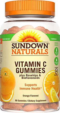 Sundown Naturals Vitamin C Gummy, Orange, 125mg, 90ct 030768533007A580