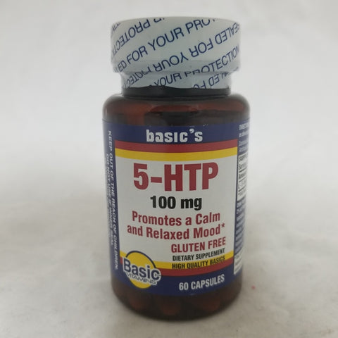 Basic's 5-HTP Capsules, 100mg, 60ct 307610605121A536