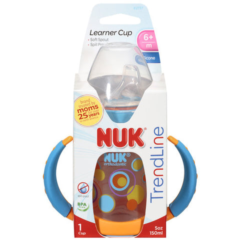 NUK Learner Cup w/Silicone Nipple, 6+ Months, 5oz 885131627377A525