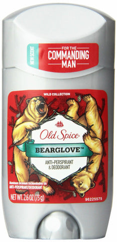 Old Spice Wild Collection Deodorant, Bearglove, 2.5oz 012044039632A339