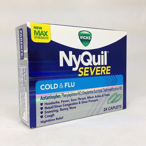 NyQuil Severe Cold & Flu, Max Strength, 24ct 323900038394T794