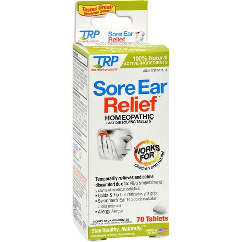 TRP Sore Ear Relief, Homeopathic, Tablets, 70ct 858961001259S598