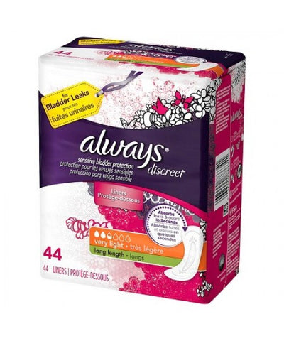 Always Discreet Liners, Very Light, Long, 132ct 037000886327A1275