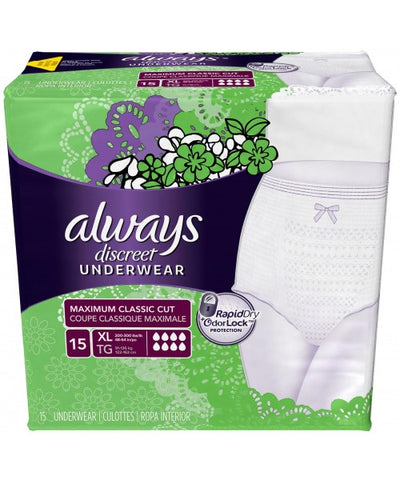 Always Discreet Briefs, Maximum, X-Large, 45ct 037000887611A3280