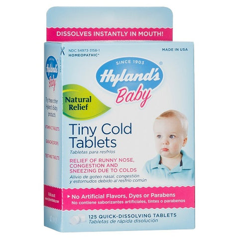 Hyland's Baby Tiny Cold Tablets, 125ct 354973315815S649