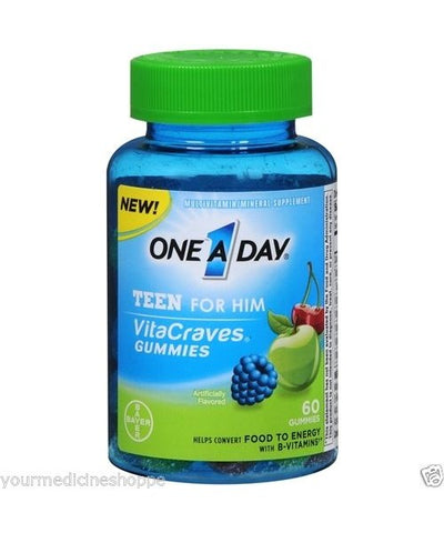 One A Day VitaCraves Teen For Him Gummies, 60ct 016500558194A774