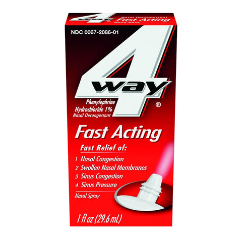 4-Way Fast Acting Nasal Spray, 1oz 300672086112A530