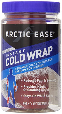 Arctic Ease Instant Cold Wrap, Red, 4x60in, 1ea 853867002324S761