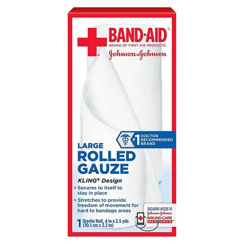 Band-Aid Brand Large Rolled Guaze 4x2.5in, 1ct 381371161393S252
