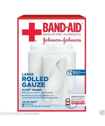 Band-Aid First Aid Covers Kling Rolled Gauze Large 5ct 381371161416A684
