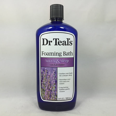 Dr. Teal's Foaming Bath, Soothe & Sleep, 34oz 811068011002T387