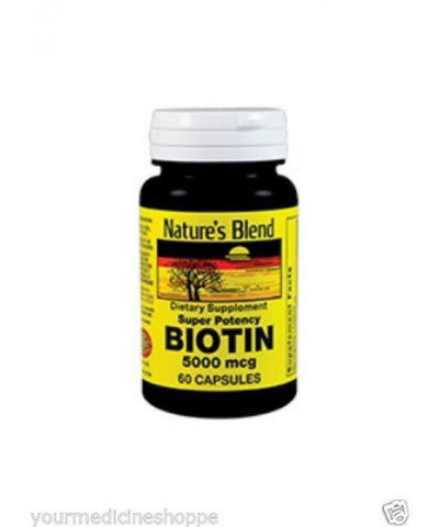Nature's Blend Biotin Capsules, 5000mcg, 60ct 079854091045A456