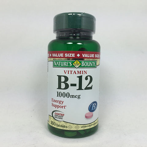 Nature's Bounty Vitamin B-12 1000mcg Tablets, 200ct 074312528057T892
