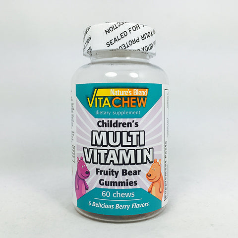 Nature's Blend Vitachew Children's Multivitamin, 60ct 079854091625A335