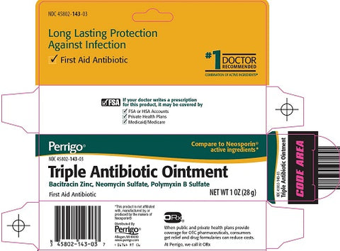 Perrigo Triple Antibiotic Packets, .9gmX144ct 345802143709J2120
