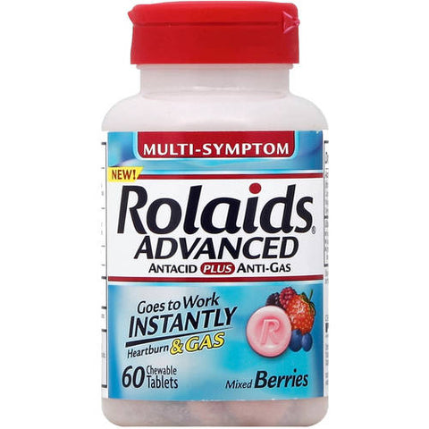 Rolaids Advanced Chewables, Berry, 60ct 041167104019S360