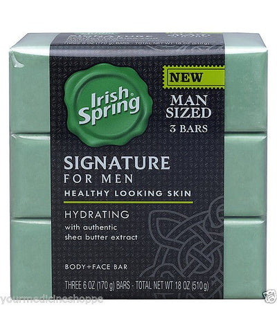 Irish Spring Signature Men's Hydrating Soap Bar, 3x6oz 035000142269S413