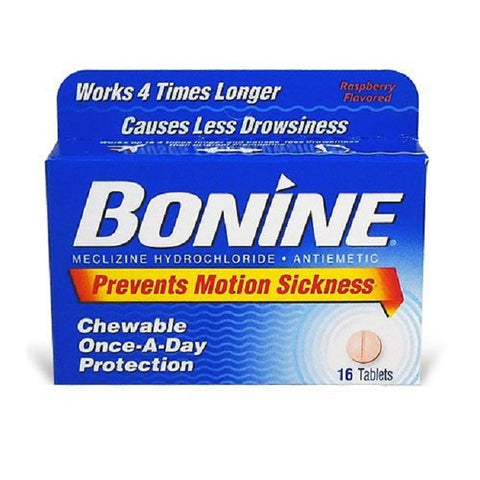 Bonine Motion Sickness Chewable Tablets Raspberry 16ct 365197275168A412