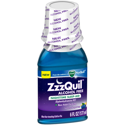 ZzzQuil Nighttime Sleep Aid, Alcohol Free, 6oz 323900038554A423