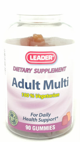 Leader 100% Vegetarian Adult Multi Gummies, 90ct 096295127096A583