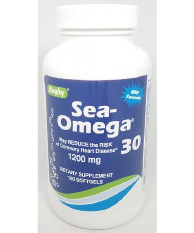 Rugby Sea-Omega 30 Fish Oil,1200mg, 100ct 005367186015S459