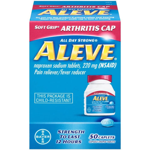 Aleve Pain Reliever & Fever Reducer Caplets 220mg 50ct 325866560001A564