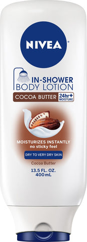 Nivea In-Shower Lotion, Cocoa Butter, 13.5oz 072140019396S451