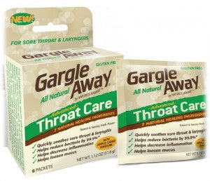 Gargle Away Advanced Natural Throat Care, 6ct 869563000038S431