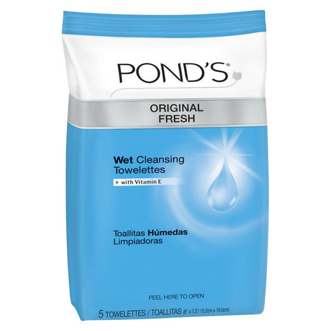 Pond's Original Fresh Cleansing Towelettes, 5ctX12ct 305219089007A1416