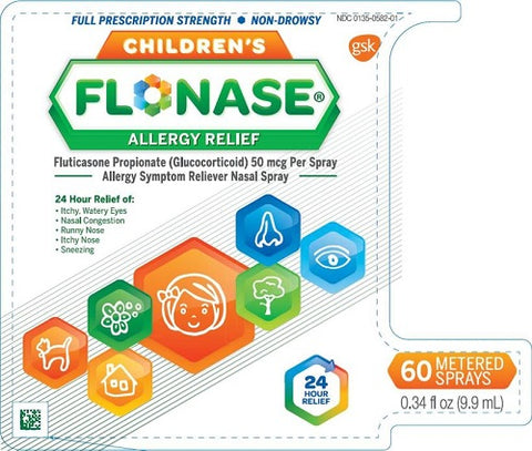 Flonase Childrens Allergy Relief Nasal Spray, 60 Doses 353100201250S1258