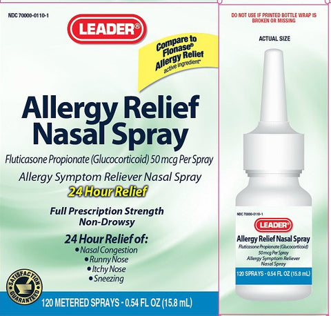 Leader Allergy Relief Nasal Spray, 24hr, 120 Sprays 096295127454A1189