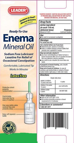Leader Ready-To-Use Enema Saline Laxative, 4.5ozX2ct 096295127522A160