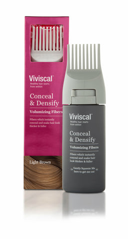 Viviscal Conceal&Densify Volumizing Fiber, Light Brown 852135004541A1500
