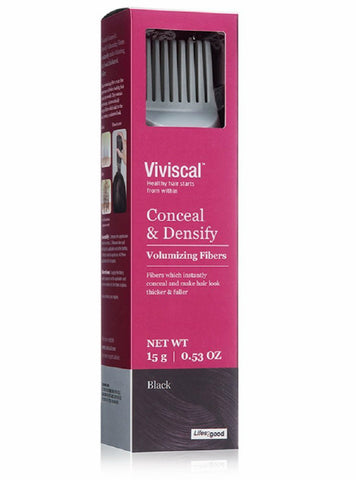 Viviscal Conceal&Densify Volumizing Fibers, Black 852135004565A1500