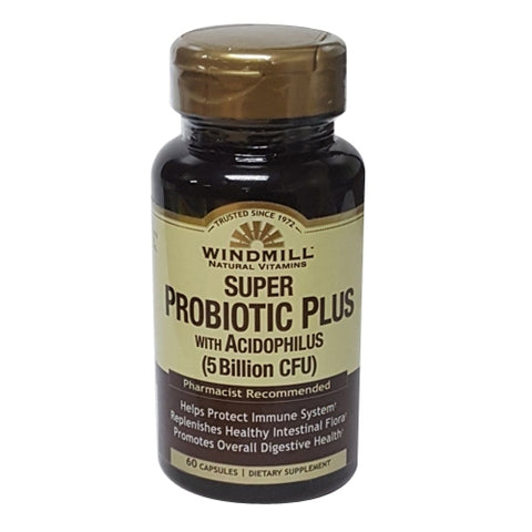 Windmill Probiotic Plus w/Acidophilus Capsules, 60ct 035046001179C745