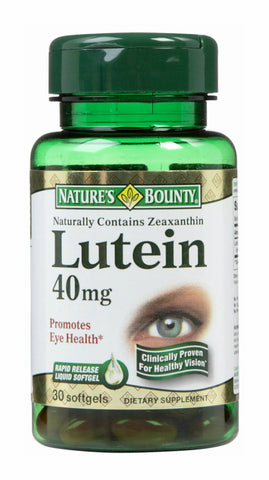 Nature's Bounty Lutein 40mg, Softgels, 30ct 074312442506S1443