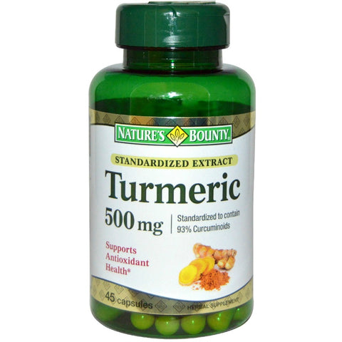 Nature's Bounty Tumeric Capsules, 500mg, 45ct 074312552731A1043