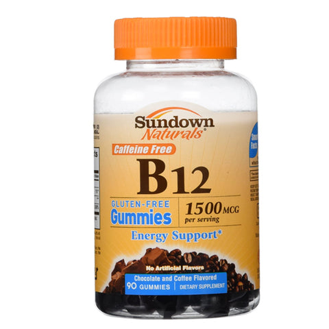 Sundown Naturals B-12 1500mcg, Energy, Gummies, 90ct 030768588021T581