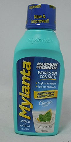 Mylanta Maximum Strength Liquid, Classic Flavor, 12oz 819903010289A480