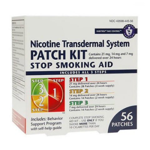 Nicotine Transdermal System Patches, Step 1-3, 56ct 848985001571A8529