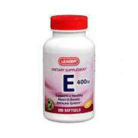 Leader Vitamin E 400IU Softgels, 100ct 096295127843S541