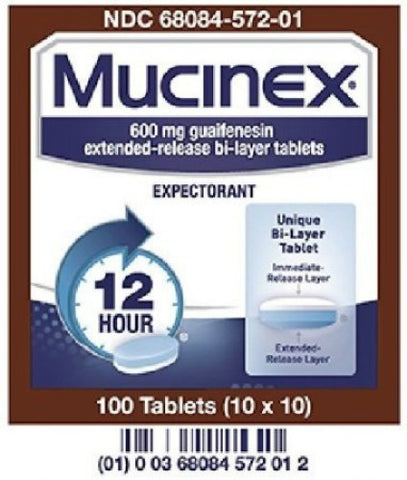 American Health Mucinex Tablets, 600mg, 100ct 368084572012A9313