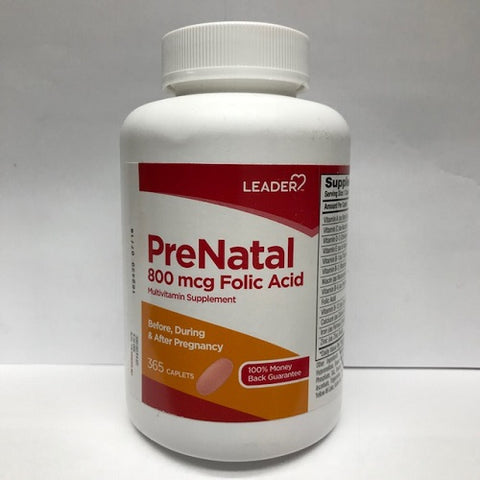 Leader Vitamin Prenatal Tablets, 365ct 096295128338S1040