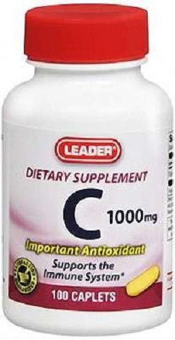 Leader Vitamin C 1000mg Tablets, 100ct 096295128390S475