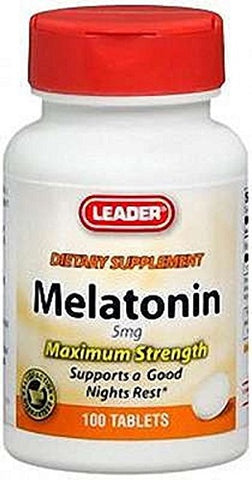 Leader Melatonin 5mg Tablets, 100ct 096295128284S450