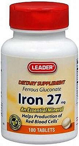 Leader Iron 27mg Tablets, 100ct 096295128291S186