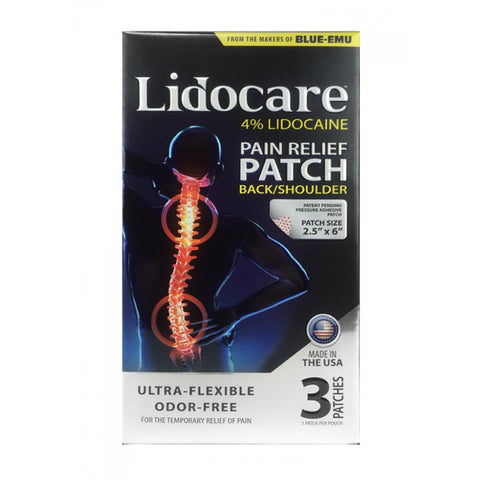 Lidocare Pain Relief Patches, Back/Shoulder, 3 Patches 045611009363A1090