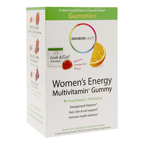 Rainbow Light Women's Energy Gummy, Orange Zest, 30ct 021888121717T1274