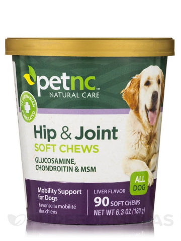 PetNC Hip & Joint Soft Chews, Liver Flavor, 90ct 740985275917A601