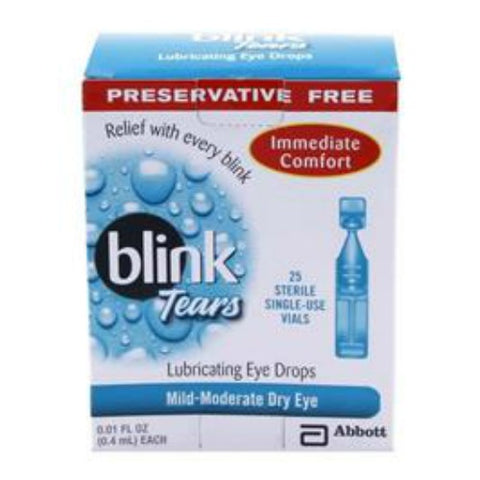 Blink Tears Lubricating Eye Drops, 25 Single-Use Vials 340171005252A740